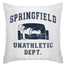 """Подушка """"Springfield Unathletic Dept"""" - simpsons, прикольные, симпсоны, гомер симпсон, лень"""