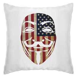 """Подушка """"USA Anonymous"""" - vendetta, маска, анонимус, сша, вендетта"""