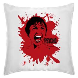 """Подушка """"Psycho"""" - кровь, blood, ужасы, хичкок, психо"""