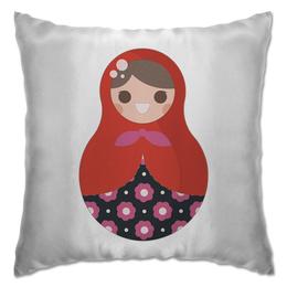 """Подушка """"Матрёшка"""" - цветы, матрёшки, матрёшка, расписная кукла"""