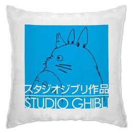 """Подушка """"Ghibli studio"""" - аниме, тоторо, totoro, ghibli, миядзаки"""