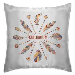 """Подушка """"Equilibrium"""" - мандала, медитация, тишина, перья, равновесие"""
