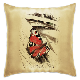 """Подушка """"Бабочка"""" - арт, бабочка, рисунок, винтаж, природа"""