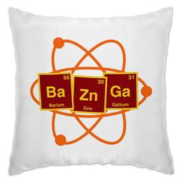 "Подушка ""Ba-Zn-Ga"" - шелдон, теория большого взрыва, бугагашенька, big bang theory, базинга"