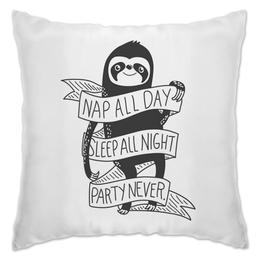 """Подушка """"Ленивец"""" - прикольные, лень, ленивец, для ленивых, sloth"""