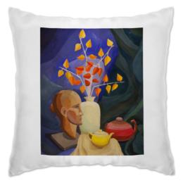 """Подушка """"Живописная подушка"""" - арт, популярные, женская, рисунок, в подарок, картина, искусство, креативно, живопись, бутылка"""