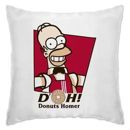 "Подушка ""Donuts Homes"" - гомер, simpsons, homer, симпсоны, пончик"