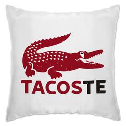 "Подушка ""Tacoste"" - крокодил, lacoste, deadpool, марвел, дэдпул"