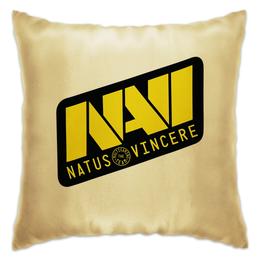 "Подушка ""Natus Vincere Logo (Gold)"" - игры, dota, dota 2, navi, natus vincere, дота, edward, киберспорт, dendi, markeloff"