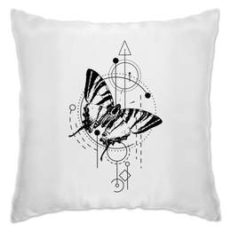 "Подушка ""Подушка Butterfly abstract geometry"" - tattoo, насекомые, минимализм, геометрия, абстракция"