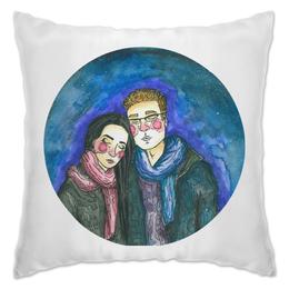 """Подушка """"Нежность """" - любовь, арт, рисунок, нежность, акварель"""