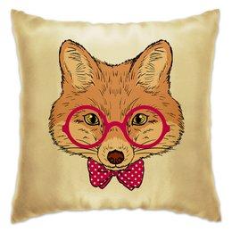"""Подушка """"Лисичка"""" - очки, fox, лиса, животное"""
