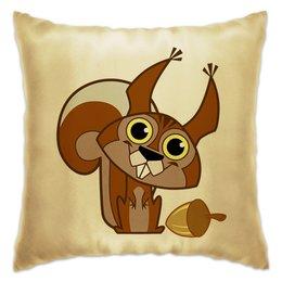 "Подушка ""Белка"" - животное, белочка, орех"