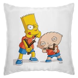 "Подушка ""Bart Stewie"" - юмор, сериалы, мульт, stewie, bart"