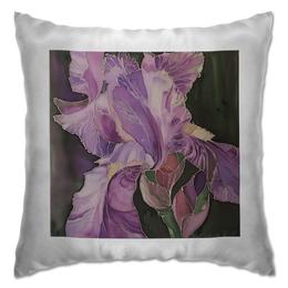 """Подушка """"Восхитительный ирис"""" - подарок девушке, ирис, цветочный, подарок маме, цветочная композиция"""