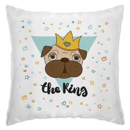 """Подушка """"Мопс -король"""" - собака, 2018, год собаки, новый год, мопс"""