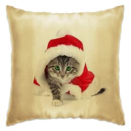 "Подушка ""Новогодний Котэ"" - кот, happy new year, новый год, котэ, 2015"