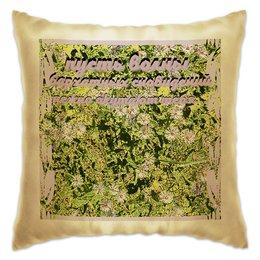 """Подушка """"Пожелание...."""" - цветы, ромашка, ромашки, пожелание, цветник"""