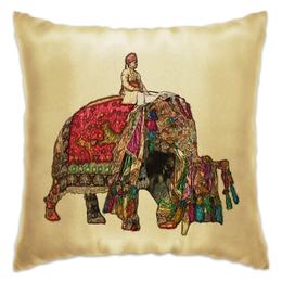 """Подушка """"Индия """"Фестиваль слонов"""""""" - ом, индия, индийский слон"""