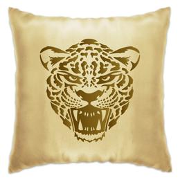 """Подушка """"Леопард"""" - кот, голова, рисунок, пятна, леопард"""