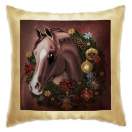 """Подушка """"Подушка с лошадью """" - лошадь, в подарок, подарить на новый год, подушка на диван"""
