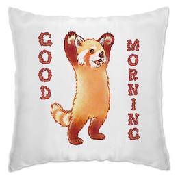 "Подушка ""Доброе Утро!"" - утро, панда, ночь, panda"