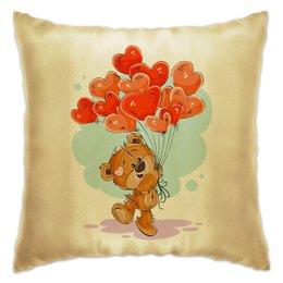 """Подушка """"Влюблённые сердца"""" - любовь, сердца, день валентина, день влюблённых, мишка тэдди"""