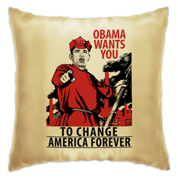 "Подушка ""Obama Red Army"" - америка, россия, russia, обама, obama"