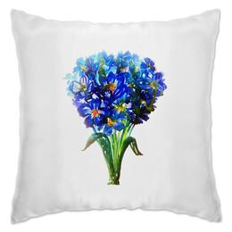 """Подушка """"Весенние цветы"""" - цветы, акварель, букет, tseart"""