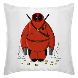 "Подушка ""Deadpool Baymax"" - марвел, убийца, дэдпул, город героев, бэймакс"