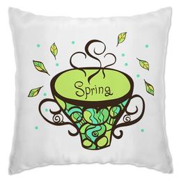 """Подушка """"Зеленый чай"""" - для сна, мягкие подарки, весенние подарки, сладкий сон"""
