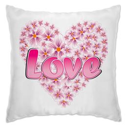 """Подушка """"любовь из цветов"""" - сердце, любовь, цветы, love"""