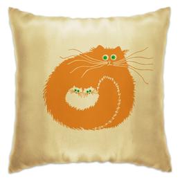"""Подушка """"Большая семья"""" - любовь, коты, cats, рыжий кот, чёрный кот"""