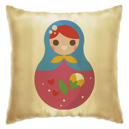 "Подушка ""Матрёшка"" - матрёшки, матрёшка, расписная кукла"