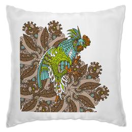 """Подушка """"петушиное разноцветие"""" - узор, птица, символ года, злой, петух"""