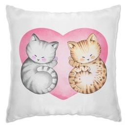 """Подушка """"Котики"""" - сердце, любовь, день святого валентина, котик"""