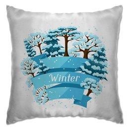 "Подушка ""Зимняя"" - новый год, зима, природа, 2019"