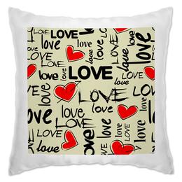 """Подушка """"Любовь"""" - сердце, любовь, день святого валентина, надписи, i love you"""