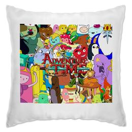 """Подушка """"Adventure Time"""" - мультфильм, коллаж, для детей, adventure time"""