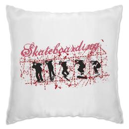 "Подушка ""Skateboarding"" - скейтборд, скейт, скейтбординг"