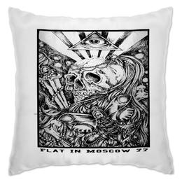 """Подушка """"cranial"""" - арт, популярные, рисунок, в подарок, оригинально"""
