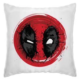 "Подушка ""Crazy Deadpool"" - супергерой, marvel, марвел, убийца, дэдпул"
