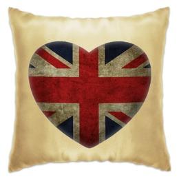 "Подушка ""Сердце"" - стиль, англия, подарок, флаг, подушка, британия, великобритания, британский флаг, английский флаг, подушка с британским флагом"