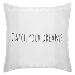 "Подушка ""Catch your dreams"" - арт, текст, сны, паутина"