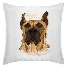 "Подушка ""Great Dane"" - животные, пес, щенок, собака, собачка"