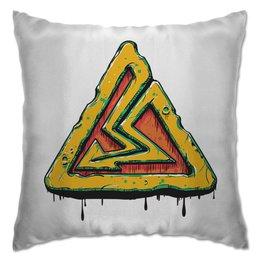 """Подушка """"Высокое напряжение"""" - рисунок, знак, молния, символ, электричество"""