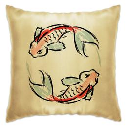 """Подушка """"Знак Зодиака Рыбы"""" - арт, животные, рисунок, рыба, знак зодиака"""