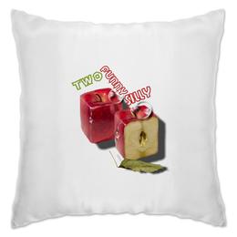 """Подушка """"Два сумасшедших яблочка"""" - юмор, в подарок, яблоки, с днем рождения, смешные яблоки, прикольные яблоки, прикольный подарок, на юбилей свадьбы, любовная пара, любимому супругу"""