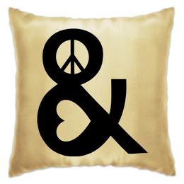 """Подушка """"Любовь и мир"""" - сердце, любовь, мир"""