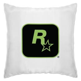"""Подушка """"Rockstar Games"""" - gta, rockstar, гта, рокстар, rockstar games"""